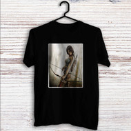 Lara Croft 4 Custom T Shirt Tank Top Men and Woman