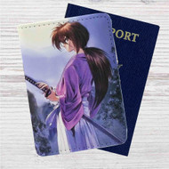 Samurai X Rurouni Kenshin Custom Leather Passport Wallet Case Cover