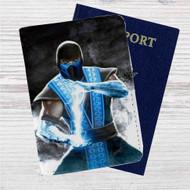 Sub Zero Mortal Kombat X Custom Leather Passport Wallet Case Cover
