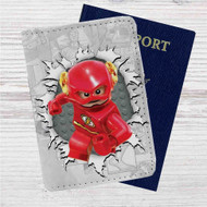 The Flash Lego Custom Leather Passport Wallet Case Cover