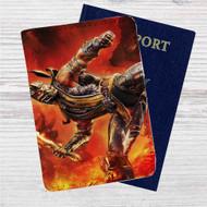 Scorpion Mortal Kombat X Custom Leather Passport Wallet Case Cover