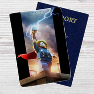 Thor The Avengers Lego Custom Leather Passport Wallet Case Cover