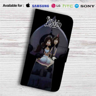 Aladdin and Jasmine Tim Burton Custom Leather Wallet iPhone 4/4S 5S/C 6/6S Plus 7| Samsung Galaxy S4 S5 S6 S7 Note 3 4 5| LG G2 G3 G4| Motorola Moto X X2 Nexus 6| Sony Z3 Z4 Mini| HTC ONE X M7 M8 M9 Case