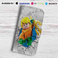 Aquaman Lego Custom Leather Wallet iPhone 4/4S 5S/C 6/6S Plus 7| Samsung Galaxy S4 S5 S6 S7 Note 3 4 5| LG G2 G3 G4| Motorola Moto X X2 Nexus 6| Sony Z3 Z4 Mini| HTC ONE X M7 M8 M9 Case