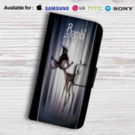 Bambi Tim Burton Custom Leather Wallet iPhone 4/4S 5S/C 6/6S Plus 7| Samsung Galaxy S4 S5 S6 S7 Note 3 4 5| LG G2 G3 G4| Motorola Moto X X2 Nexus 6| Sony Z3 Z4 Mini| HTC ONE X M7 M8 M9 Case