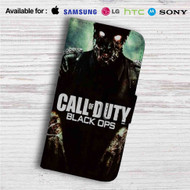 Call Of Duty Black Ops Zombie Custom Leather Wallet iPhone 4/4S 5S/C 6/6S Plus 7| Samsung Galaxy S4 S5 S6 S7 Note 3 4 5| LG G2 G3 G4| Motorola Moto X X2 Nexus 6| Sony Z3 Z4 Mini| HTC ONE X M7 M8 M9 Case