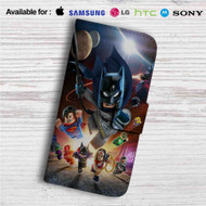 DC Comics Superheroes Lego Custom Leather Wallet iPhone 4/4S 5S/C 6/6S Plus 7| Samsung Galaxy S4 S5 S6 S7 Note 3 4 5| LG G2 G3 G4| Motorola Moto X X2 Nexus 6| Sony Z3 Z4 Mini| HTC ONE X M7 M8 M9 Case