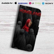 Homeland 4 Custom Leather Wallet iPhone 4/4S 5S/C 6/6S Plus 7| Samsung Galaxy S4 S5 S6 S7 Note 3 4 5| LG G2 G3 G4| Motorola Moto X X2 Nexus 6| Sony Z3 Z4 Mini| HTC ONE X M7 M8 M9 Case