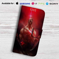 Kano Mortal Kombat X Custom Leather Wallet iPhone 4/4S 5S/C 6/6S Plus 7| Samsung Galaxy S4 S5 S6 S7 Note 3 4 5| LG G2 G3 G4| Motorola Moto X X2 Nexus 6| Sony Z3 Z4 Mini| HTC ONE X M7 M8 M9 Case