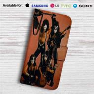 Kiss Classic Rock Custom Leather Wallet iPhone 4/4S 5S/C 6/6S Plus 7| Samsung Galaxy S4 S5 S6 S7 Note 3 4 5| LG G2 G3 G4| Motorola Moto X X2 Nexus 6| Sony Z3 Z4 Mini| HTC ONE X M7 M8 M9 Case