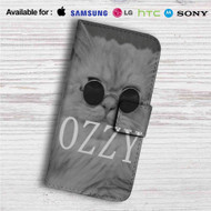 Kitty Ozzy Osbourne Custom Leather Wallet iPhone 4/4S 5S/C 6/6S Plus 7| Samsung Galaxy S4 S5 S6 S7 Note 3 4 5| LG G2 G3 G4| Motorola Moto X X2 Nexus 6| Sony Z3 Z4 Mini| HTC ONE X M7 M8 M9 Case