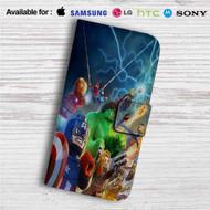 Marvel Superheroes Lego Custom Leather Wallet iPhone 4/4S 5S/C 6/6S Plus 7| Samsung Galaxy S4 S5 S6 S7 Note 3 4 5| LG G2 G3 G4| Motorola Moto X X2 Nexus 6| Sony Z3 Z4 Mini| HTC ONE X M7 M8 M9 Case