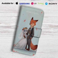 Nick and Judy Maried Zootopia Custom Leather Wallet iPhone 4/4S 5S/C 6/6S Plus 7| Samsung Galaxy S4 S5 S6 S7 Note 3 4 5| LG G2 G3 G4| Motorola Moto X X2 Nexus 6| Sony Z3 Z4 Mini| HTC ONE X M7 M8 M9 Case