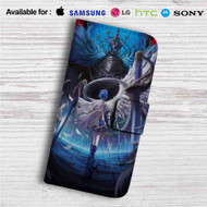 Sayaka Mahou Shoujo Madoka Magica Custom Leather Wallet iPhone 4/4S 5S/C 6/6S Plus 7  Samsung Galaxy S4 S5 S6 S7 Note 3 4 5  LG G2 G3 G4  Motorola Moto X X2 Nexus 6  Sony Z3 Z4 Mini  HTC ONE X M7 M8 M9 Case