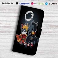 Sonic Batman and Robin Custom Leather Wallet iPhone 4/4S 5S/C 6/6S Plus 7| Samsung Galaxy S4 S5 S6 S7 Note 3 4 5| LG G2 G3 G4| Motorola Moto X X2 Nexus 6| Sony Z3 Z4 Mini| HTC ONE X M7 M8 M9 Case