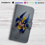 Stitch as Wolverine Custom Leather Wallet iPhone 4/4S 5S/C 6/6S Plus 7| Samsung Galaxy S4 S5 S6 S7 Note 3 4 5| LG G2 G3 G4| Motorola Moto X X2 Nexus 6| Sony Z3 Z4 Mini| HTC ONE X M7 M8 M9 Case