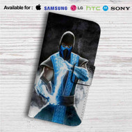 Sub Zero Mortal Kombat X Custom Leather Wallet iPhone 4/4S 5S/C 6/6S Plus 7| Samsung Galaxy S4 S5 S6 S7 Note 3 4 5| LG G2 G3 G4| Motorola Moto X X2 Nexus 6| Sony Z3 Z4 Mini| HTC ONE X M7 M8 M9 Case