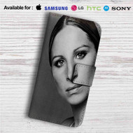 Barbra Streisand Custom Leather Wallet iPhone 4/4S 5S/C 6/6S Plus 7| Samsung Galaxy S4 S5 S6 S7 Note 3 4 5| LG G2 G3 G4| Motorola Moto X X2 Nexus 6| Sony Z3 Z4 Mini| HTC ONE X M7 M8 M9 Case