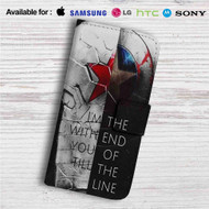 Bucky and Captain America Quotes Custom Leather Wallet iPhone 4/4S 5S/C 6/6S Plus 7| Samsung Galaxy S4 S5 S6 S7 Note 3 4 5| LG G2 G3 G4| Motorola Moto X X2 Nexus 6| Sony Z3 Z4 Mini| HTC ONE X M7 M8 M9 Case