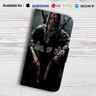 Carol of Duty The Walking Dead Custom Leather Wallet iPhone 4/4S 5S/C 6/6S Plus 7| Samsung Galaxy S4 S5 S6 S7 Note 3 4 5| LG G2 G3 G4| Motorola Moto X X2 Nexus 6| Sony Z3 Z4 Mini| HTC ONE X M7 M8 M9 Case