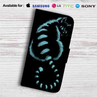 Cat Cheshire in Shadow Custom Leather Wallet iPhone 4/4S 5S/C 6/6S Plus 7| Samsung Galaxy S4 S5 S6 S7 Note 3 4 5| LG G2 G3 G4| Motorola Moto X X2 Nexus 6| Sony Z3 Z4 Mini| HTC ONE X M7 M8 M9 Case