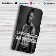 Conor Mcgregor I am Not Talented Custom Leather Wallet iPhone 4/4S 5S/C 6/6S Plus 7| Samsung Galaxy S4 S5 S6 S7 Note 3 4 5| LG G2 G3 G4| Motorola Moto X X2 Nexus 6| Sony Z3 Z4 Mini| HTC ONE X M7 M8 M9 Case