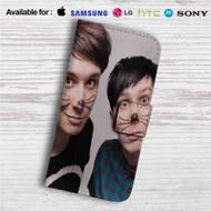Dan and Phil Custom Leather Wallet iPhone 4/4S 5S/C 6/6S Plus 7| Samsung Galaxy S4 S5 S6 S7 Note 3 4 5| LG G2 G3 G4| Motorola Moto X X2 Nexus 6| Sony Z3 Z4 Mini| HTC ONE X M7 M8 M9 Case