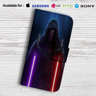 Darth Revan Star Wars Custom Leather Wallet iPhone 4/4S 5S/C 6/6S Plus 7| Samsung Galaxy S4 S5 S6 S7 Note 3 4 5| LG G2 G3 G4| Motorola Moto X X2 Nexus 6| Sony Z3 Z4 Mini| HTC ONE X M7 M8 M9 Case