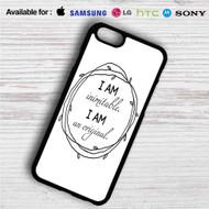 Wait For It Hamilton I am Inimitable iPhone 4/4S 5 S/C/SE 6/6S Plus 7| Samsung Galaxy S4 S5 S6 S7 NOTE 3 4 5| LG G2 G3 G4| MOTOROLA MOTO X X2 NEXUS 6| SONY Z3 Z4 MINI| HTC ONE X M7 M8 M9 M8 MINI CASE