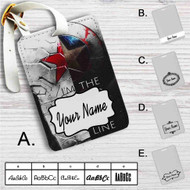 Bucky and Captain America Quotes Custom Leather Luggage Tag