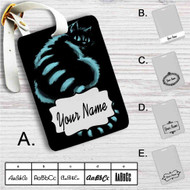 Cat Cheshire in Shadow Custom Leather Luggage Tag