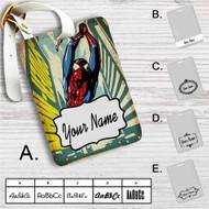Comic Spiderman Custom Leather Luggage Tag