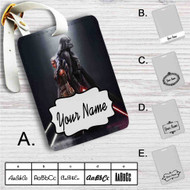 Darth Vader and Ahsoka Tano Custom Leather Luggage Tag