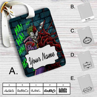 Joker and Carnage HaHaHa Custom Leather Luggage Tag