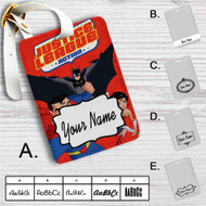 Justice League Action Custom Leather Luggage Tag