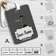 Lena Oxton Overwatch Custom Leather Luggage Tag