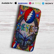 Grateful Dead Bears Custom Leather Wallet iPhone 4/4S 5S/C 6/6S Plus 7| Samsung Galaxy S4 S5 S6 S7 Note 3 4 5| LG G2 G3 G4| Motorola Moto X X2 Nexus 6| Sony Z3 Z4 Mini| HTC ONE X M7 M8 M9 Case