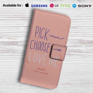 Grey's Anatomy Love Me Custom Leather Wallet iPhone 4/4S 5S/C 6/6S Plus 7| Samsung Galaxy S4 S5 S6 S7 Note 3 4 5| LG G2 G3 G4| Motorola Moto X X2 Nexus 6| Sony Z3 Z4 Mini| HTC ONE X M7 M8 M9 Case