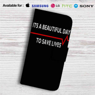 Grey's Anatomy Quotes Custom Leather Wallet iPhone 4/4S 5S/C 6/6S Plus 7| Samsung Galaxy S4 S5 S6 S7 Note 3 4 5| LG G2 G3 G4| Motorola Moto X X2 Nexus 6| Sony Z3 Z4 Mini| HTC ONE X M7 M8 M9 Case