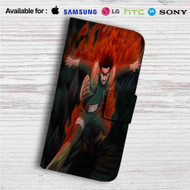 Hachimon Tonkou No Jin Naruto Custom Leather Wallet iPhone 4/4S 5S/C 6/6S Plus 7| Samsung Galaxy S4 S5 S6 S7 Note 3 4 5| LG G2 G3 G4| Motorola Moto X X2 Nexus 6| Sony Z3 Z4 Mini| HTC ONE X M7 M8 M9 Case