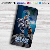Ice Age Collision Course Astronaut Custom Leather Wallet iPhone 4/4S 5S/C 6/6S Plus 7| Samsung Galaxy S4 S5 S6 S7 Note 3 4 5| LG G2 G3 G4| Motorola Moto X X2 Nexus 6| Sony Z3 Z4 Mini| HTC ONE X M7 M8 M9 Case