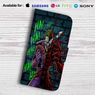 Joker and Carnage HaHaHa Custom Leather Wallet iPhone 4/4S 5S/C 6/6S Plus 7| Samsung Galaxy S4 S5 S6 S7 Note 3 4 5| LG G2 G3 G4| Motorola Moto X X2 Nexus 6| Sony Z3 Z4 Mini| HTC ONE X M7 M8 M9 Case