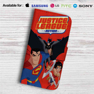 Justice League Action Custom Leather Wallet iPhone 4/4S 5S/C 6/6S Plus 7| Samsung Galaxy S4 S5 S6 S7 Note 3 4 5| LG G2 G3 G4| Motorola Moto X X2 Nexus 6| Sony Z3 Z4 Mini| HTC ONE X M7 M8 M9 Case