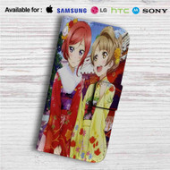 Love Live Nishikino Maki Minami Kotori Custom Leather Wallet iPhone 4/4S 5S/C 6/6S Plus 7| Samsung Galaxy S4 S5 S6 S7 Note 3 4 5| LG G2 G3 G4| Motorola Moto X X2 Nexus 6| Sony Z3 Z4 Mini| HTC ONE X M7 M8 M9 Case