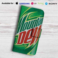 Mountain Dew Custom Leather Wallet iPhone 4/4S 5S/C 6/6S Plus 7| Samsung Galaxy S4 S5 S6 S7 Note 3 4 5| LG G2 G3 G4| Motorola Moto X X2 Nexus 6| Sony Z3 Z4 Mini| HTC ONE X M7 M8 M9 Case
