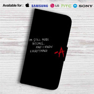 Pretty Little Liars Bitches Custom Leather Wallet iPhone 4/4S 5S/C 6/6S Plus 7| Samsung Galaxy S4 S5 S6 S7 Note 3 4 5| LG G2 G3 G4| Motorola Moto X X2 Nexus 6| Sony Z3 Z4 Mini| HTC ONE X M7 M8 M9 Case
