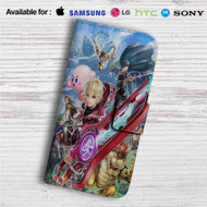 Shulk Super Smash Bros Custom Leather Wallet iPhone 4/4S 5S/C 6/6S Plus 7| Samsung Galaxy S4 S5 S6 S7 Note 3 4 5| LG G2 G3 G4| Motorola Moto X X2 Nexus 6| Sony Z3 Z4 Mini| HTC ONE X M7 M8 M9 Case
