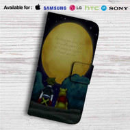 Sora Kingdom Hearts and Pooh Quotes Custom Leather Wallet iPhone 4/4S 5S/C 6/6S Plus 7| Samsung Galaxy S4 S5 S6 S7 Note 3 4 5| LG G2 G3 G4| Motorola Moto X X2 Nexus 6| Sony Z3 Z4 Mini| HTC ONE X M7 M8 M9 Case