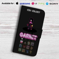 Steven Universe Select Your Fighter Custom Leather Wallet iPhone 4/4S 5S/C 6/6S Plus 7| Samsung Galaxy S4 S5 S6 S7 Note 3 4 5| LG G2 G3 G4| Motorola Moto X X2 Nexus 6| Sony Z3 Z4 Mini| HTC ONE X M7 M8 M9 Case