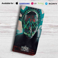 The Purge Election Year Custom Leather Wallet iPhone 4/4S 5S/C 6/6S Plus 7| Samsung Galaxy S4 S5 S6 S7 Note 3 4 5| LG G2 G3 G4| Motorola Moto X X2 Nexus 6| Sony Z3 Z4 Mini| HTC ONE X M7 M8 M9 Case